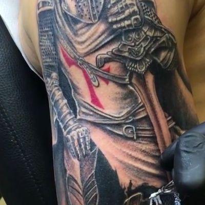 tatouage chevalier templier