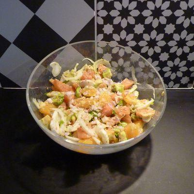 Salade de fenouil avocat saumon