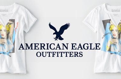 AEO MADONNA CUTOUT BAND T-SHIRT by American Eagles Outfitters
