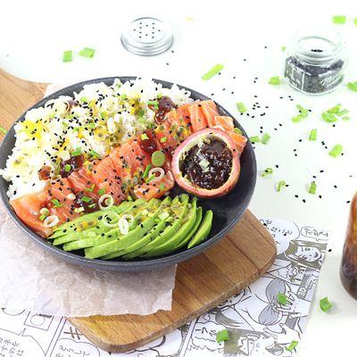 Sushi Bowl {Sauce Teriyaki et Fruit de la Passion}
