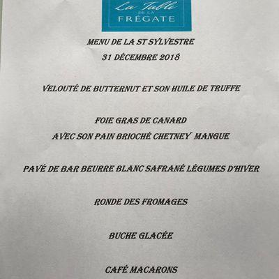 La Table de la Frégate à Canet plage réveillon du nouvel an 2018