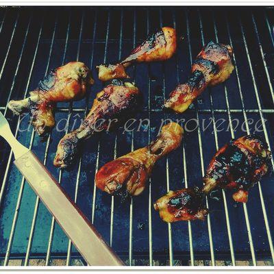 Pilons de poulet marinés sauce anglo-asiatique