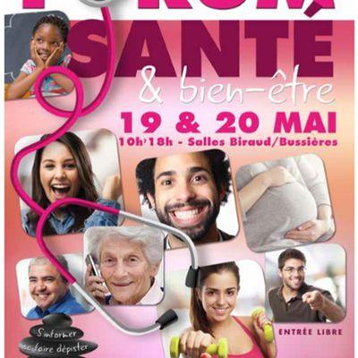 Venez me rencontrer au Forum SANTE & BIEN-ETRE