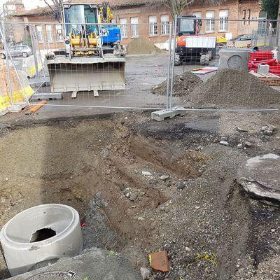 1 mois de travaux : le chantier des eaux pluviales