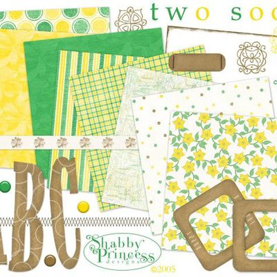 """Kit scrapbooking by Shabby princess """"Two Soon"""""""