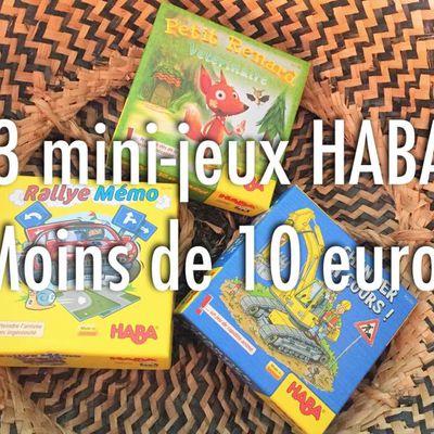 [Ludothèque] 3 mini-jeux HABA à moins de 10 euros