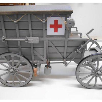 Ambulance militaire hippomobile