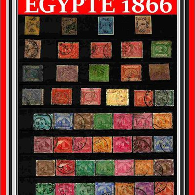 LES TIMBRES EGYPTE 1866.