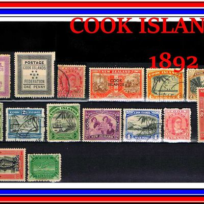 LES PREMIERS TIMBRES COOK ISLANDS 1892.