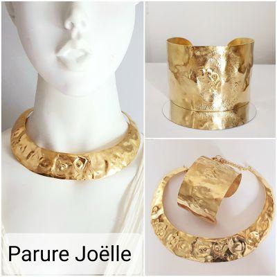 Parure dorée collier et bracelet