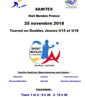 2018.11.25 SAINTES Tournoi  Doubles U15 et U18 de Nouvelle Aquitaine