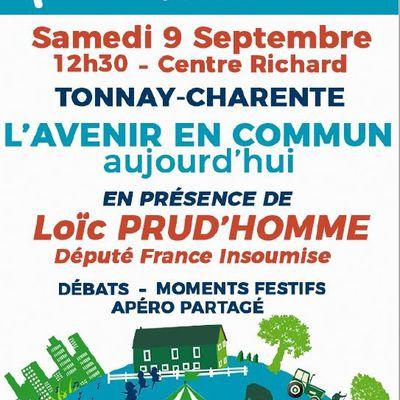 9 septembre : rentrée politique des insoumis de Charente Maritime