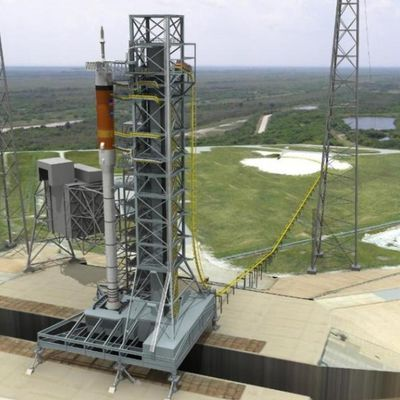 Le Mobile Launcher penche…