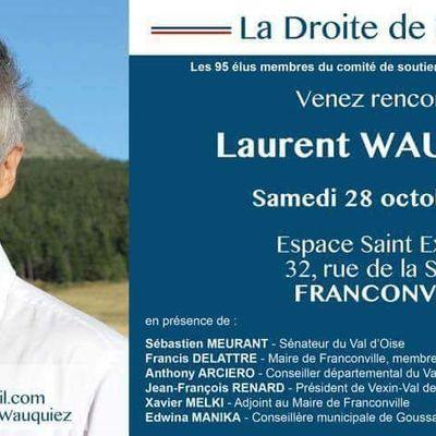 Laurent Wauquiez le 28 octobre à Franconville
