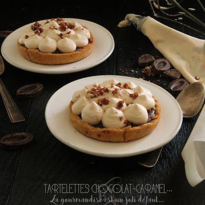 Tartelettes au chocolat et caramel