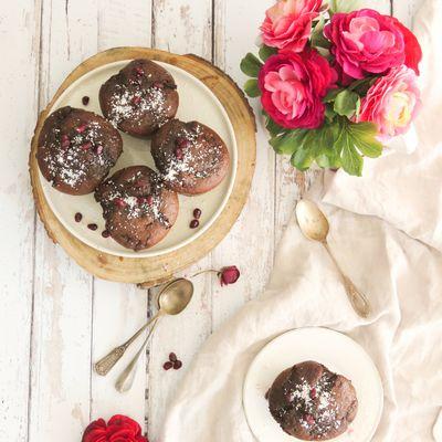 Muffins chocolat-coco-grenade