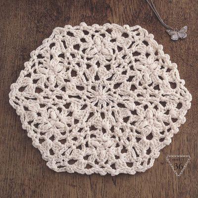 Hexagones au crochet