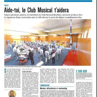Le Club Musical Berckois et l'Ecole de Musique Municipale : Un beau projet culturel pour l'avenir