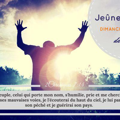 Jeûne et Prières ce mois-ci. Parce que nous voulons sortir du status quo!