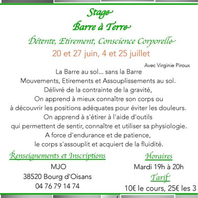 STAGE BARRE A TERRE