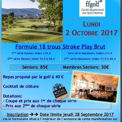 Championnat Départemental Séniors au Royal Mougins Golf Resort