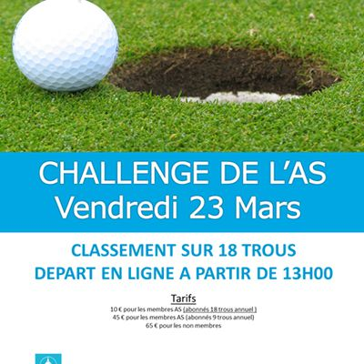 CHALLENGE DE L'AS ET EVENEMENT A VENIR - Victoriat Golf Club