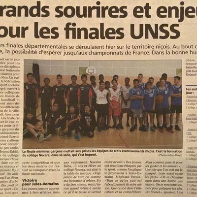 Finales départementales basket et handball minimes