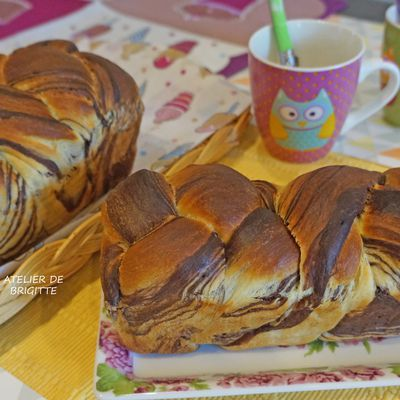Pão Mármore de Chocolate (brioche)