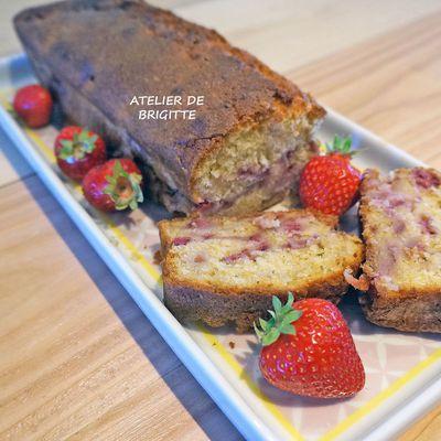 Cake aux fraises fraîches