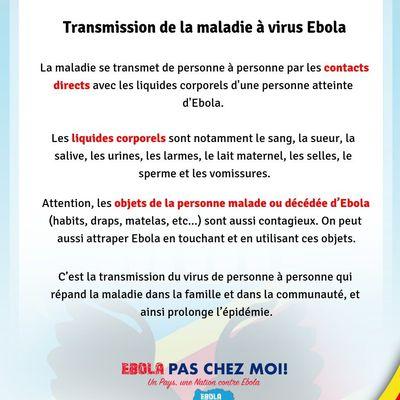 RDC :  Point sur Ébola au samedi 15 décembre 2018
