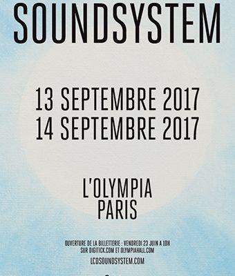 Agenda : LCD Soundsystem à l'Olympia, les 13 & 14 septembre 2017