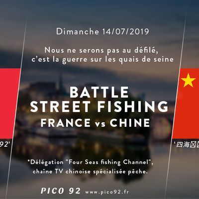 Battle Street Fishing - France vs Chine - on fera de notre mieux