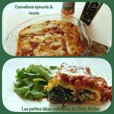 Cannellonis épinards et ricotta