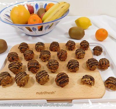 Bouchées aux dattes et flocons d'avoine