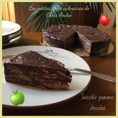 Invisible pomme & chocolat