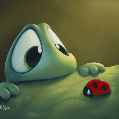 Grenouille - Coccinelle - Rob Kaz - Picture - Free