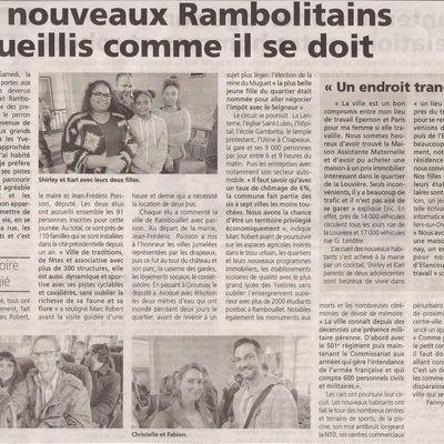 L'accueil des nouveaux habitants Rambolitains