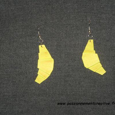 Boucles d'oreilles Croissant en origami