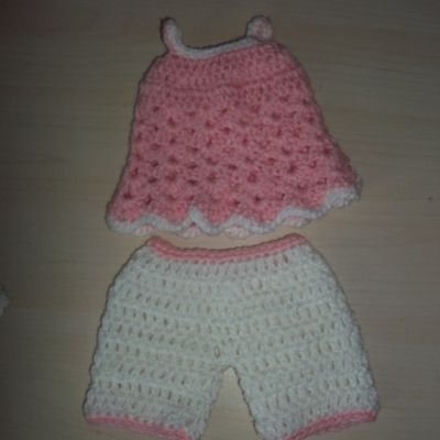 Tutoriel au crochet : ensemble tunique et short