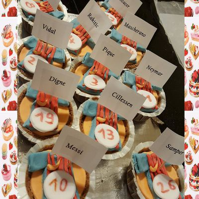 Cupcakes FC Barcelone :