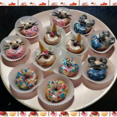 Minis donnuts décorés :