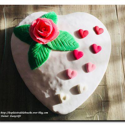 Gâteau de la Saint Valentin litchi passion
