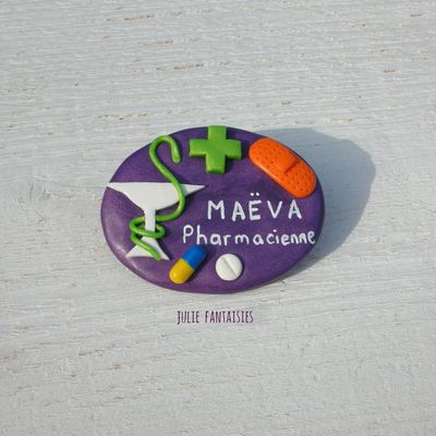 Badge pour Maëva, Pharmacienne