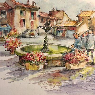 Près de la fontaine