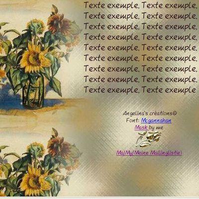 Tournesols dans vase Incredimail & Papier A4 h l & outlook & enveloppe & 2 cartes A5 & signets 3 langues    tourn_antony24
