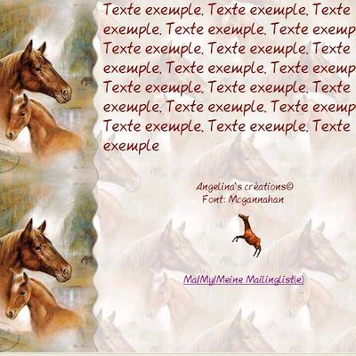 Cheval avec poulain Incredimail & Papier A4 h l & outlook & enveloppe & 2 cartes A5 & signets 3 langues ruane_manning02