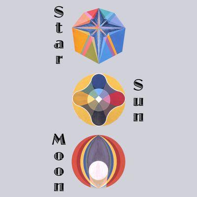 "Art panoply-""Star Sun Moon"" text-Extract paintings Étoile,Le Soleil,La Lune."