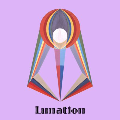 """Art panoply-""""Lunation"""" text. Extract painting """"La Lune""""."""