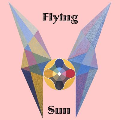 "Art panoply - ""Flying Sun"" text, composition extract paintings."