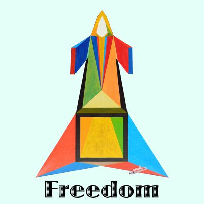 Art panoply. Freedom -text. Prints.